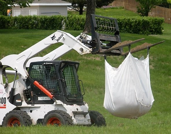 Bulk Bag Flood Control Skidloader